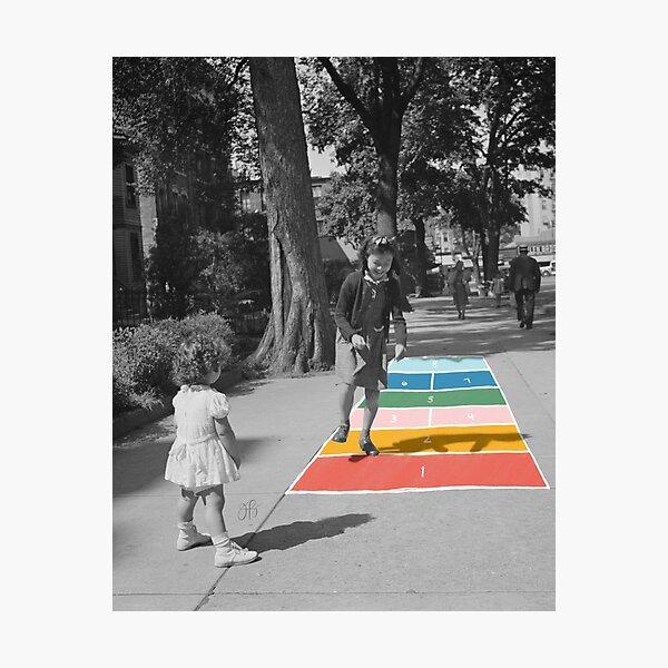 Hopscotch Photographic Print