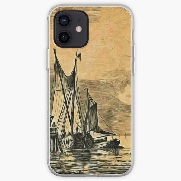 Dutch, Sailing Ships and a House on a Pier iPhone Soft Case