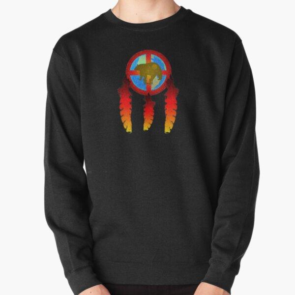 Earth Medicine-Brown Bear  Pullover Sweatshirt