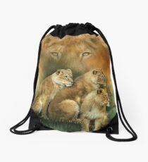 Sisterhood Of The Lions Drawstring Bag