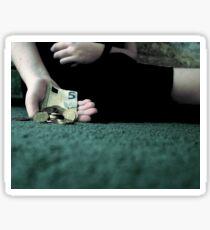 Hand Holding Euros Sticker