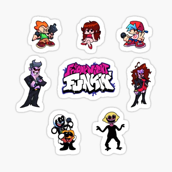 Friday Night Funkin All Character Stickers Sticker