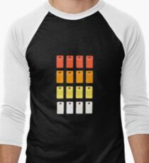808 Button Grid Men's Baseball ¾ T-Shirt
