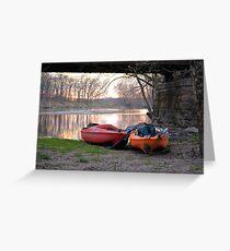 Kayak Boats Greeting Card