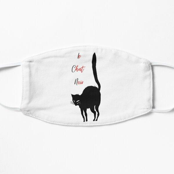 Le Chat Noir - Black Cat Vintage Image Flat Mask