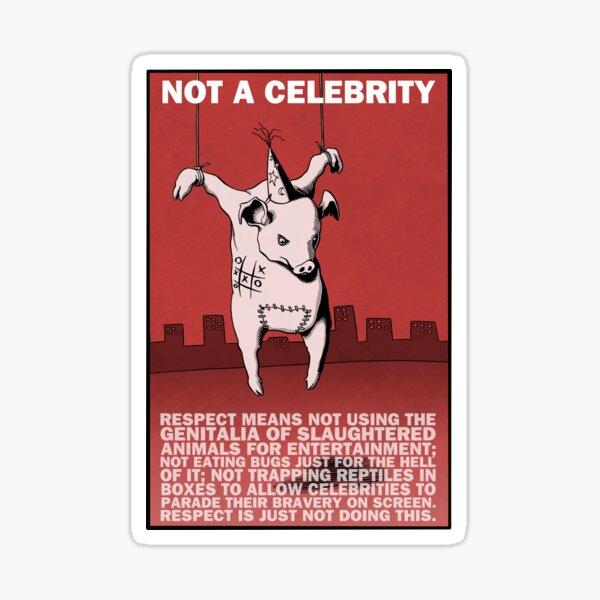 Anti animal exploitation on TV for entertainment Sticker