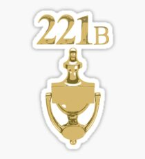 221b Baker Street (Door handle) Sticker