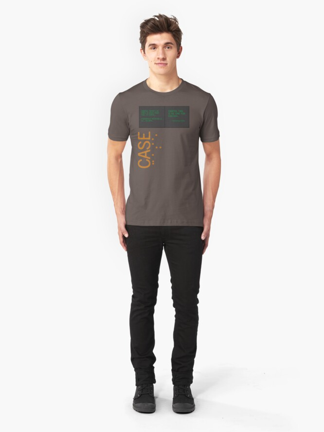 Alternate view of CASE: No Time for Caution Slim Fit T-Shirt
