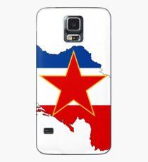 Flaggenkarte von Jugoslawien Hülle & Klebefolie für Samsung Galaxy
