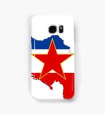 Flag-map of Yugoslavia Samsung Galaxy Case/Skin