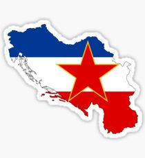 Flag-map of Yugoslavia Sticker