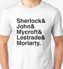 Sherlock & John & Mycroft & Lestrade & Moriarty. (Sherlock) Unisex T-Shirt