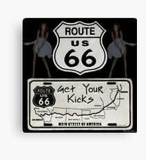 (◡‿◡✿) (◕‿◕✿) GeT YoUr KiCks On RoUtE 66 (◡‿◡✿) (◕‿◕✿) Canvas Print