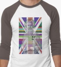 God Shave the Queen! Men's Baseball ¾ T-Shirt