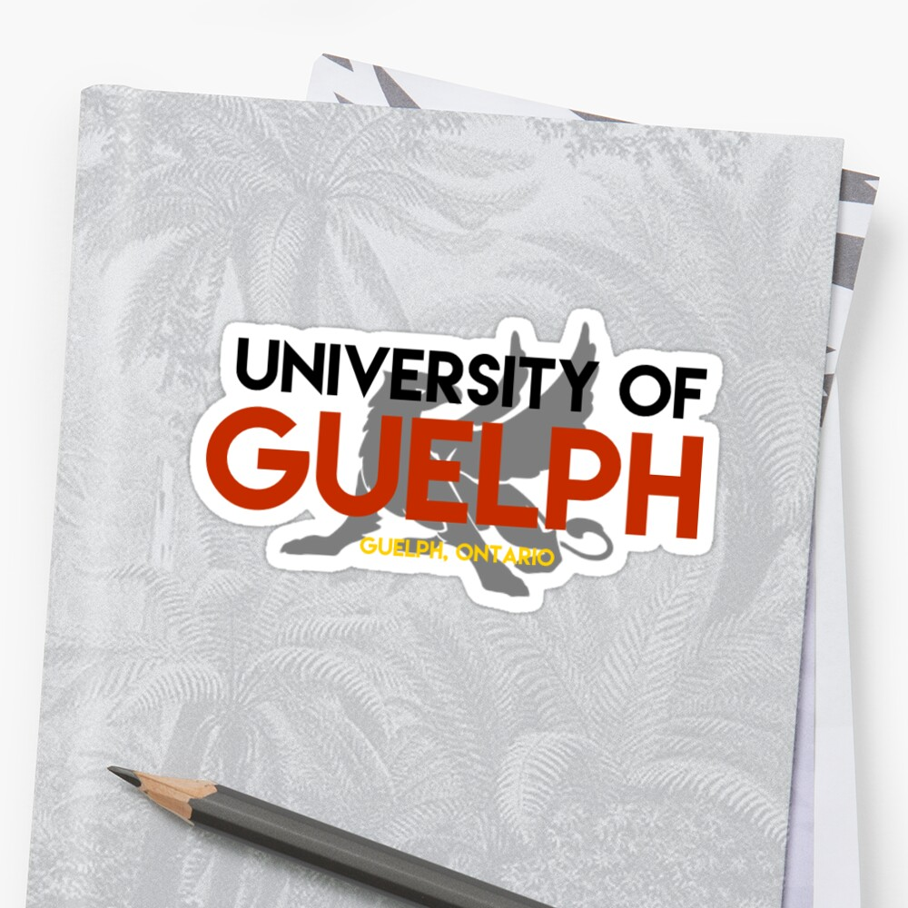 Quot Guelph Sticker With Gryphon 1 Quot Stickers By Aly Silverberg