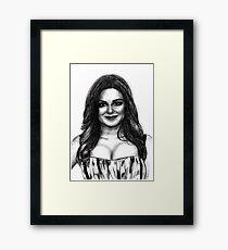 Ariel Winter Drawing Framed Print