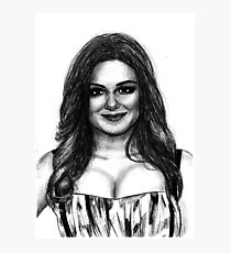 Ariel Winter Drawing Photographic Print