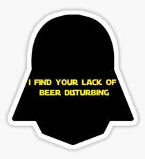 DARTH'S BEER MISSION Sticker
