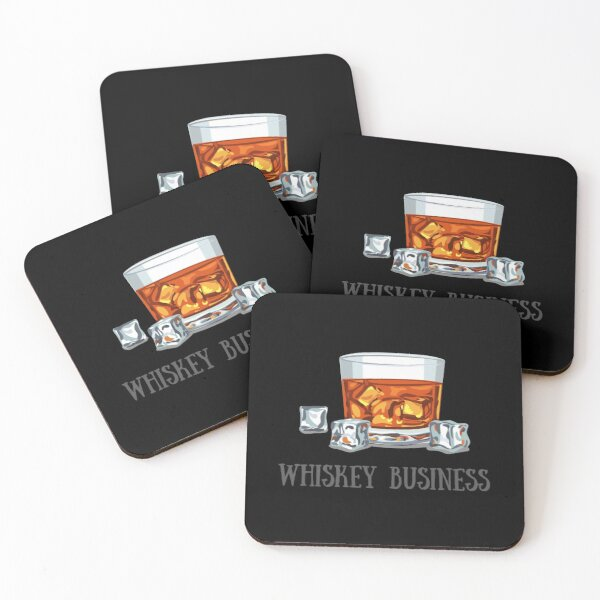 Whiskey Business, Risky Business Pun Coasters (Set of 4)
