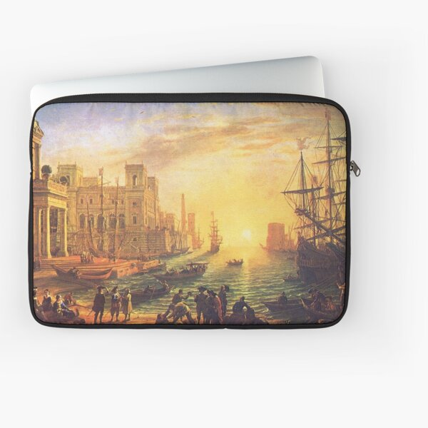 Seaport at Sunset by Claude Lorrain Laptop Sleeve
