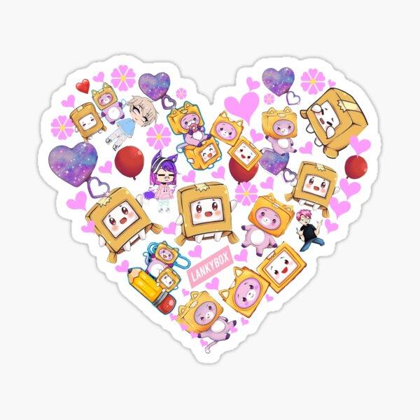 lankybox heart Sticker