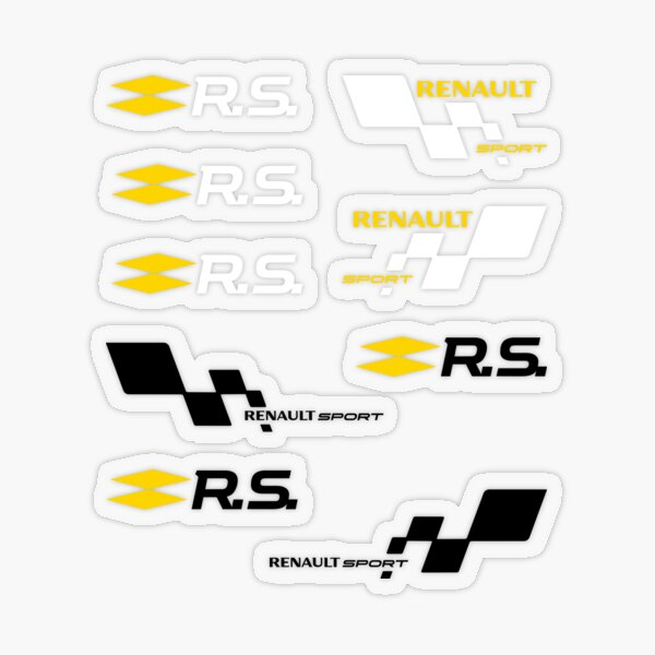 Renault Sport | RS | Voiture Sticker transparent