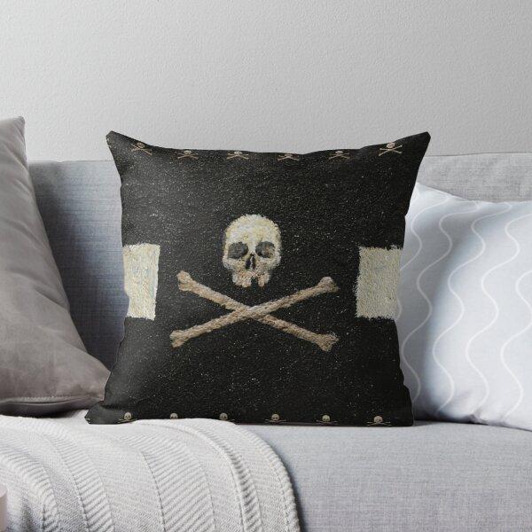 Crânes de pirate - Noir Coussin