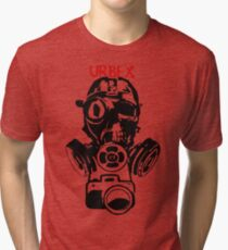 Urban Exploration UrbEx Gas Mask Skull Tri-blend T-Shirt