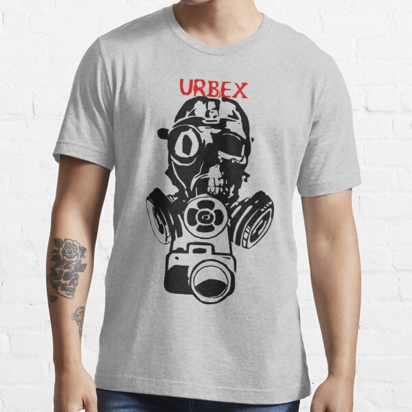 Urban Exploration UrbEx Gas Mask Skull Essential T-Shirt
