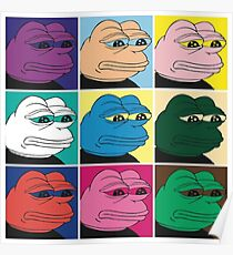 Pepe the Frog Pop Art Poster