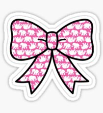 Cute Lilly Elephant Bow  Sticker