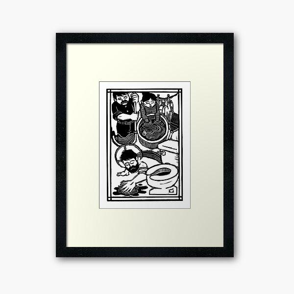 Domestic Duties print Framed Art Print