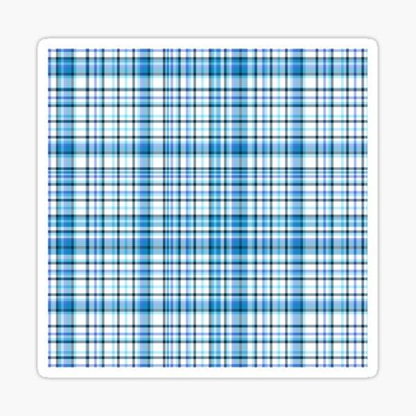 Blue Hydrangea Tartan   Sticker