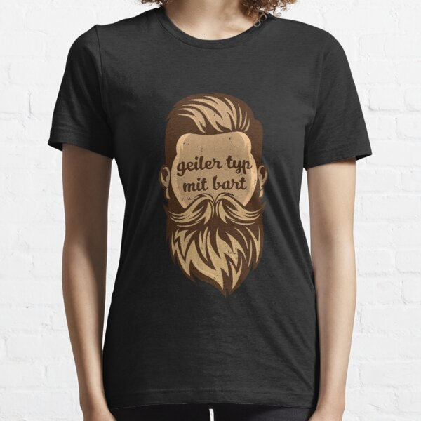 Horny guy with beard Gentlemen bearded men Real man Essential T-Shirt