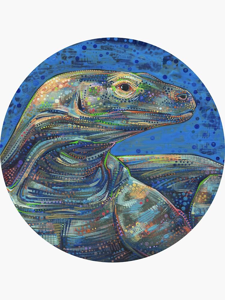 Komodo Dragon Painting - 2012 by gwennpaints