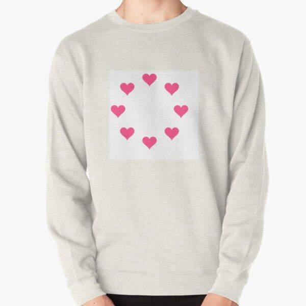 Circle of Pink Hearts Pullover Sweatshirt