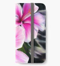 Bright Pink Hibiscus Flowers iPhone Flip-Case/Hülle/Klebefolie