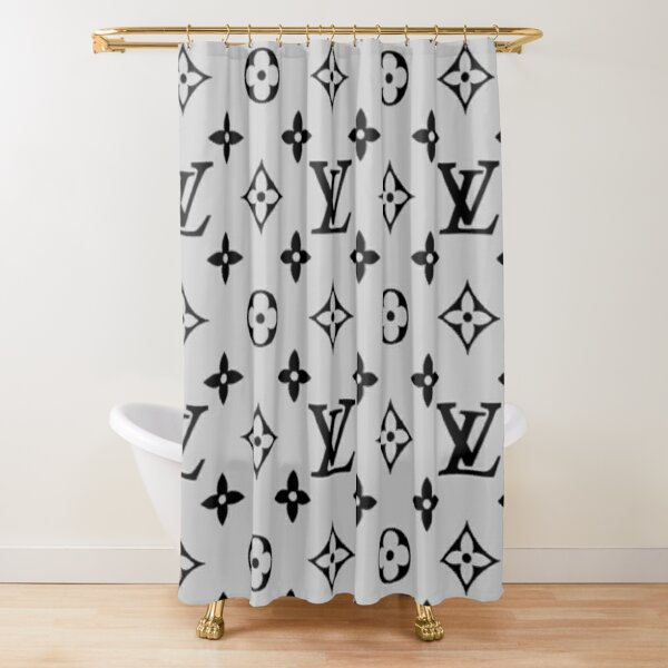 Louis V Pattern Shower Curtain
