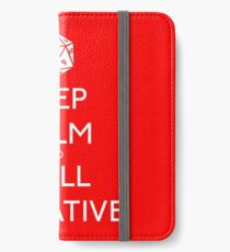 Keep Calm and Roll Initiative iPhone Wallet/Case/Skin