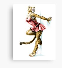 Anklet - Anthro Cheetah Girl Pin Up Canvas Print
