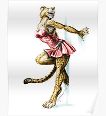 Anklet - Anthro Cheetah Girl Pin Up Poster