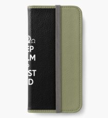 Religious Christian iPhone 6 Case Cover Keep Calm And Trust God Black iPhone Wallet/Case/Skin