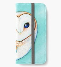 Tribal Pattern Barn Owl iPhone Flip-Case/Hülle/Skin