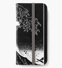 Black & White Hokusai Great Wave iPhone Wallet/Case/Skin