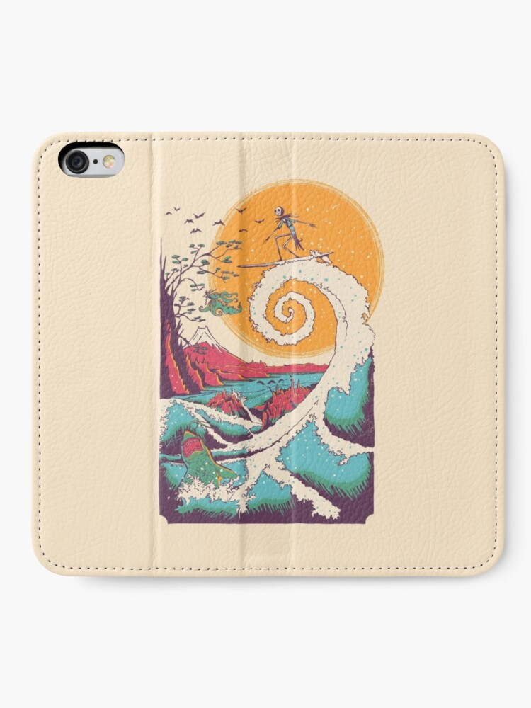 Alternate view of Surf Before Christmas iPhone Wallet