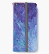 SCALES OF A DIFFERENT COLOR - Abstract Acrylic Painting Eggplant Sea Scales Ocean Waves Colorful iPhone Wallet/Case/Skin