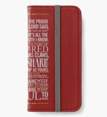 The Rains of Castamere iPhone Wallet/Case/Skin