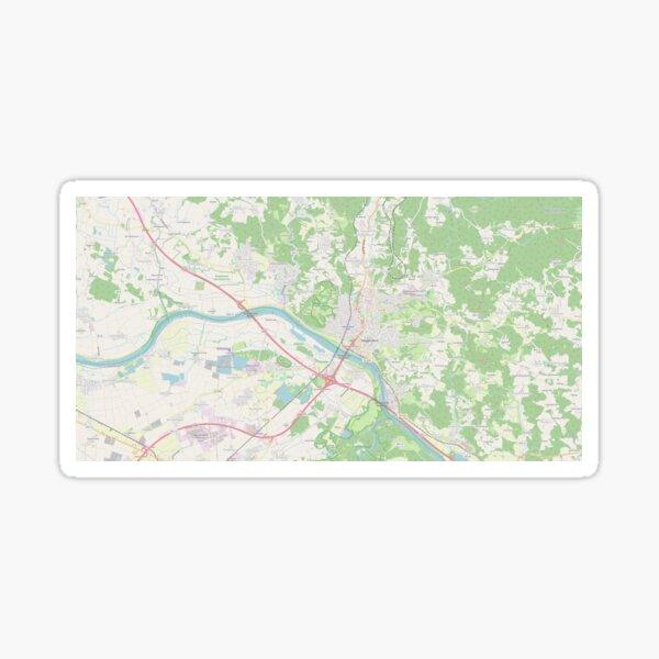 Map of Deggendorf Sticker