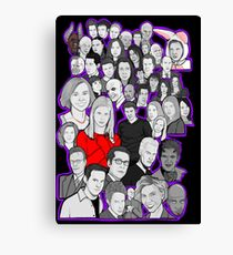 buffy the vampire slayer/Angel character collage Canvas Print