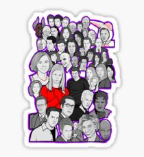 buffy the vampire slayer/Angel character collage Sticker